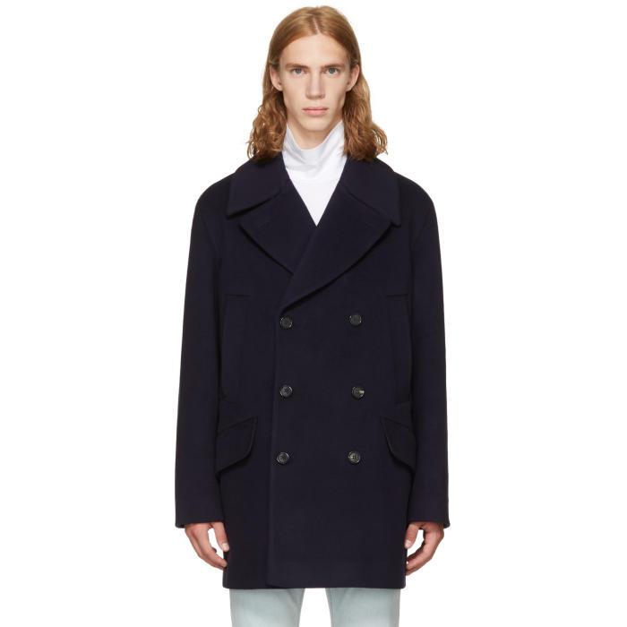 Acne Studios Navy Murray Coat