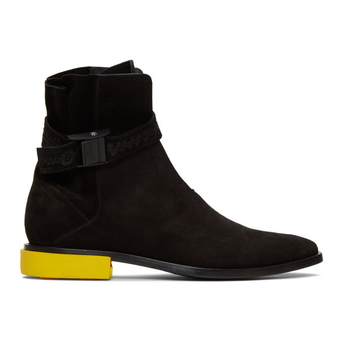 Photo: Off-White Black Suede Jodhpur Boots