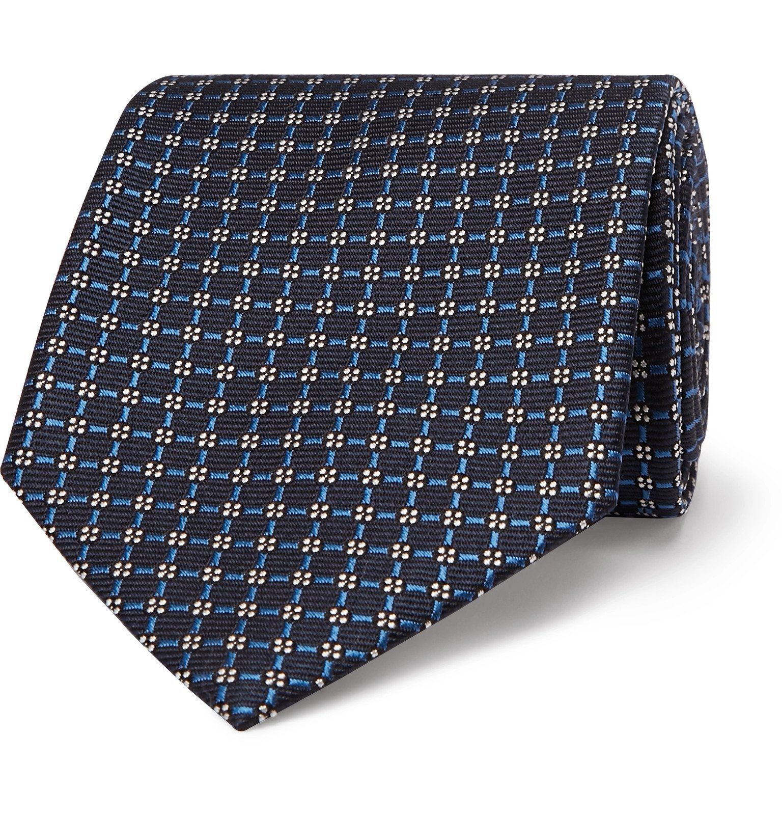 Photo: Ermenegildo Zegna - 8cm Striped Silk Tie - Blue