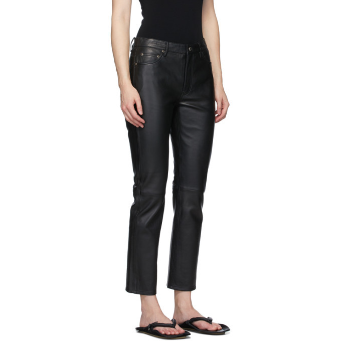Won Hundred Black Sally Leather Trousers
