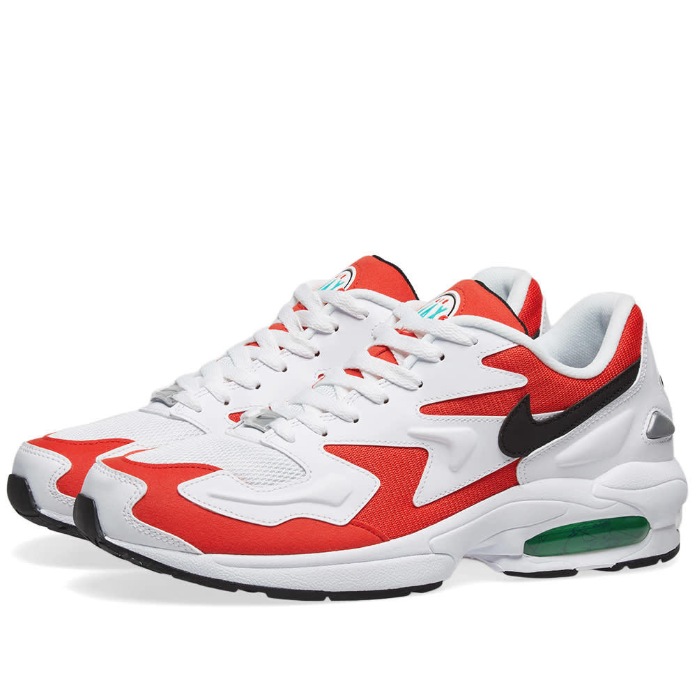 Photo: Nike Air Max 2 Light White, Black, Red & Green