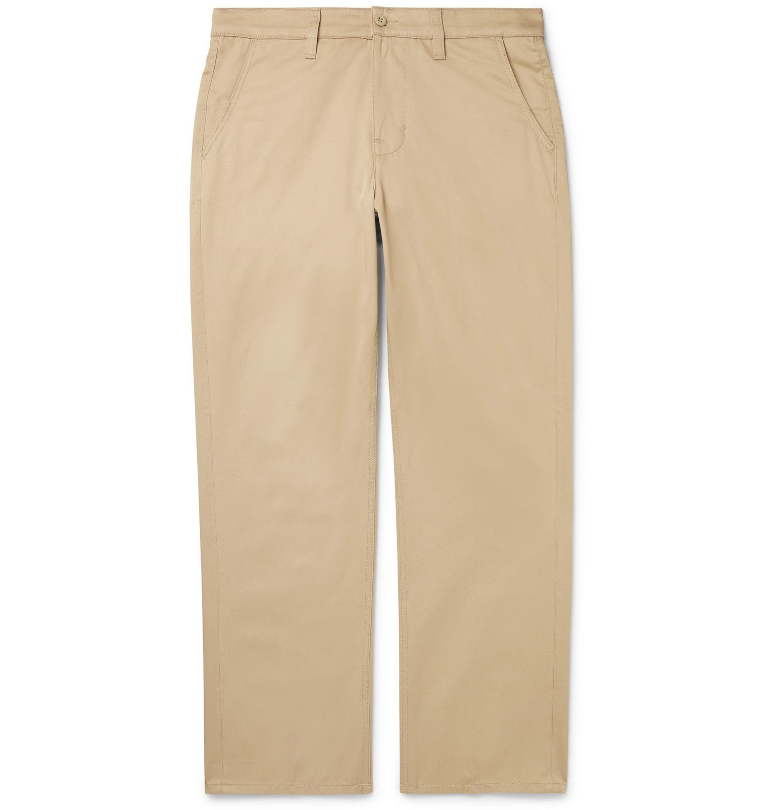 Photo: Nudie Jeans - Lazy Leo Organic Cotton-Twill Chinos - Neutrals