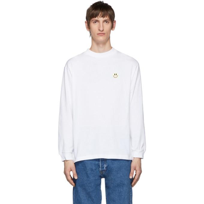 Photo: Carne Bollente White Longer Dickface Long Sleeve T-Shirt