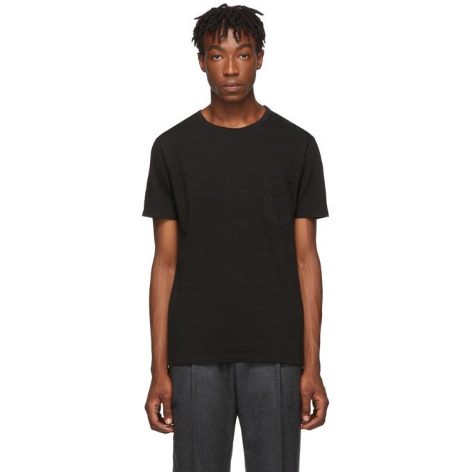 Officine Generale Black Pocket T-Shirt