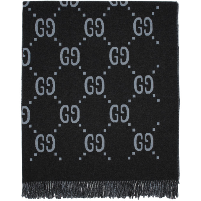 Photo: Gucci Reversible Grey GG Poncho