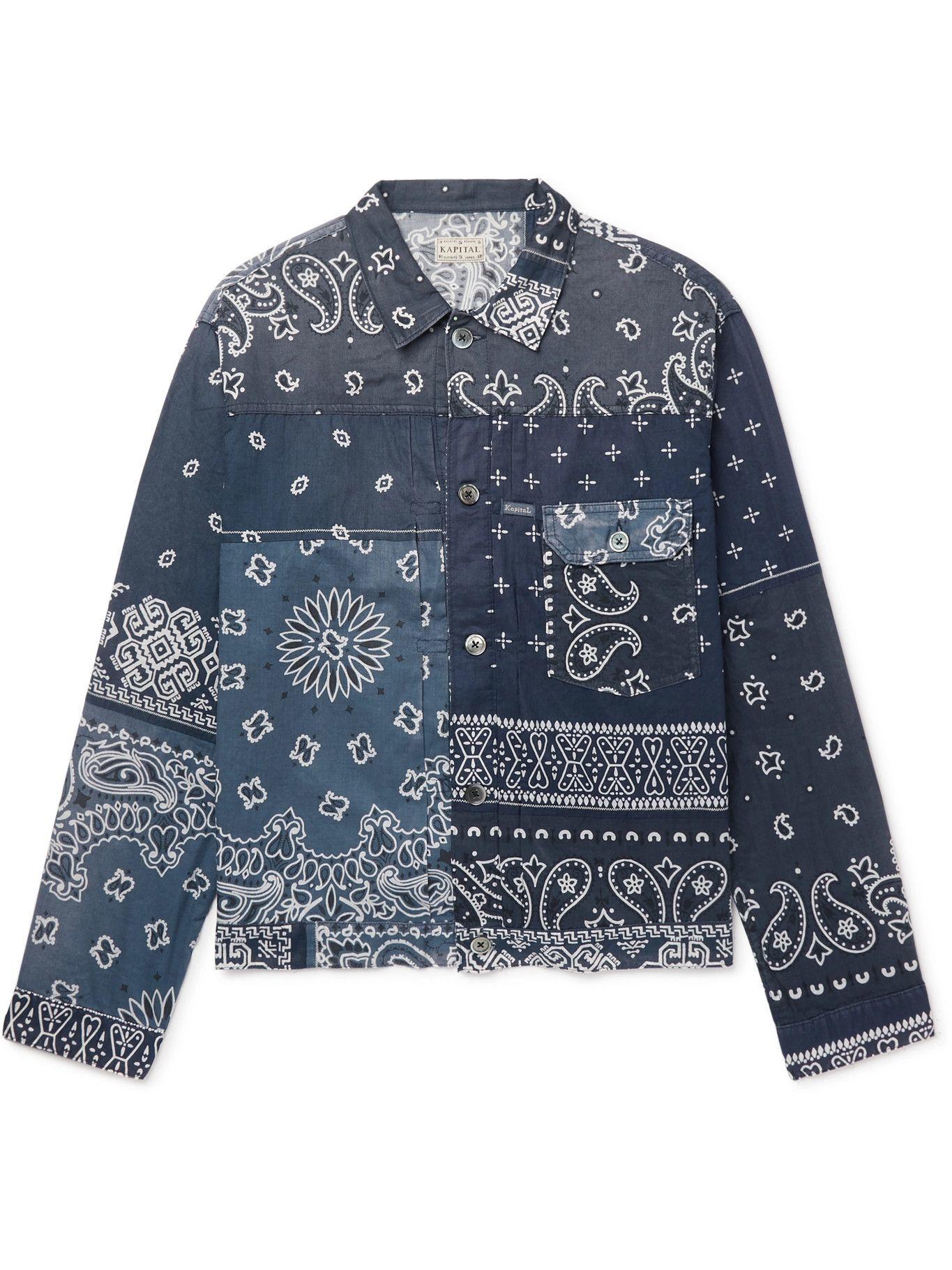 Photo: KAPITAL - Patchwork Bandana-Print Cotton Jacket - Blue