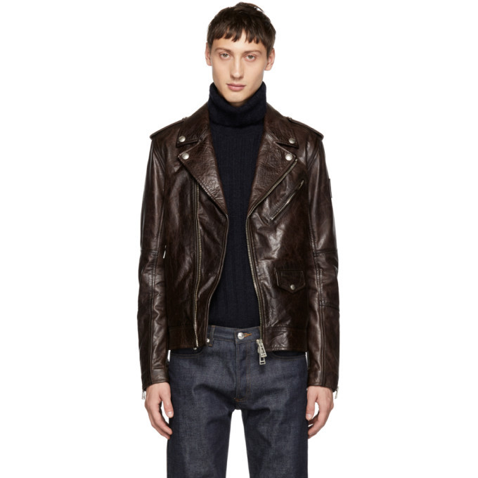 Photo: Belstaff Burgundy Leather Sidmouth Jacket
