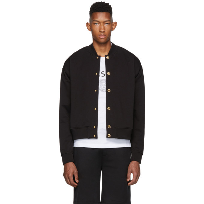 Photo: Versace Black Medusa Bomber Jacket