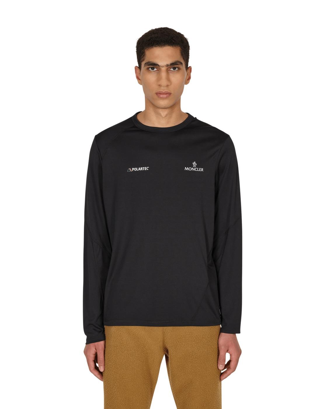 Photo: Moncler Polartec Longsleeve T Shirt Black