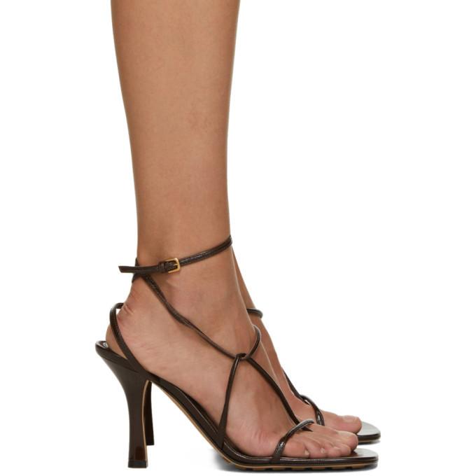 Photo: Bottega Veneta Brown Strappy Sandals