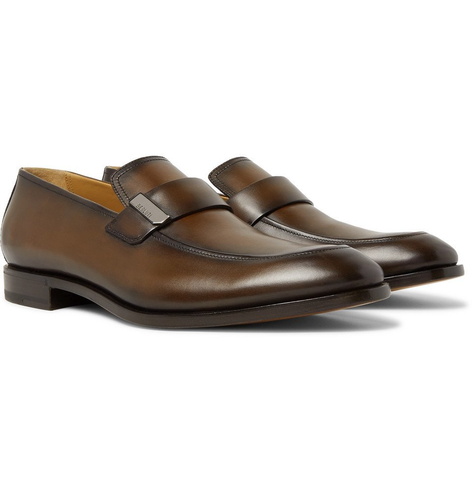 Photo: Berluti - Reflet Leather Loafers - Brown