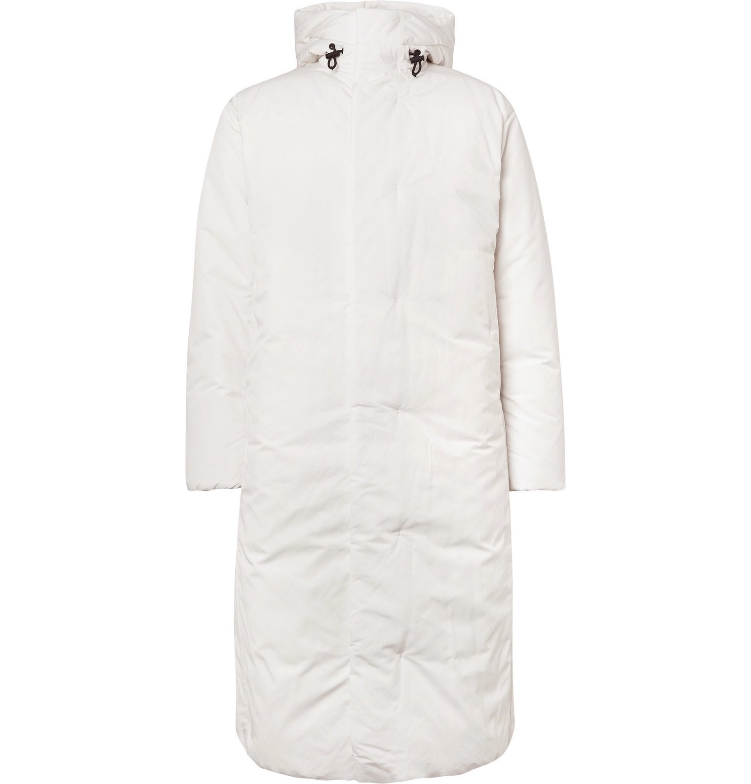 Photo: Theory - Oversized Quilted Shell Hooded Down Coat - White
