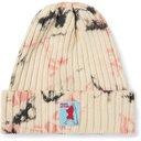 KAPITAL - Ashbury Appliquéd Tie-Dyed Ribbed Cotton Beanie - Neutrals