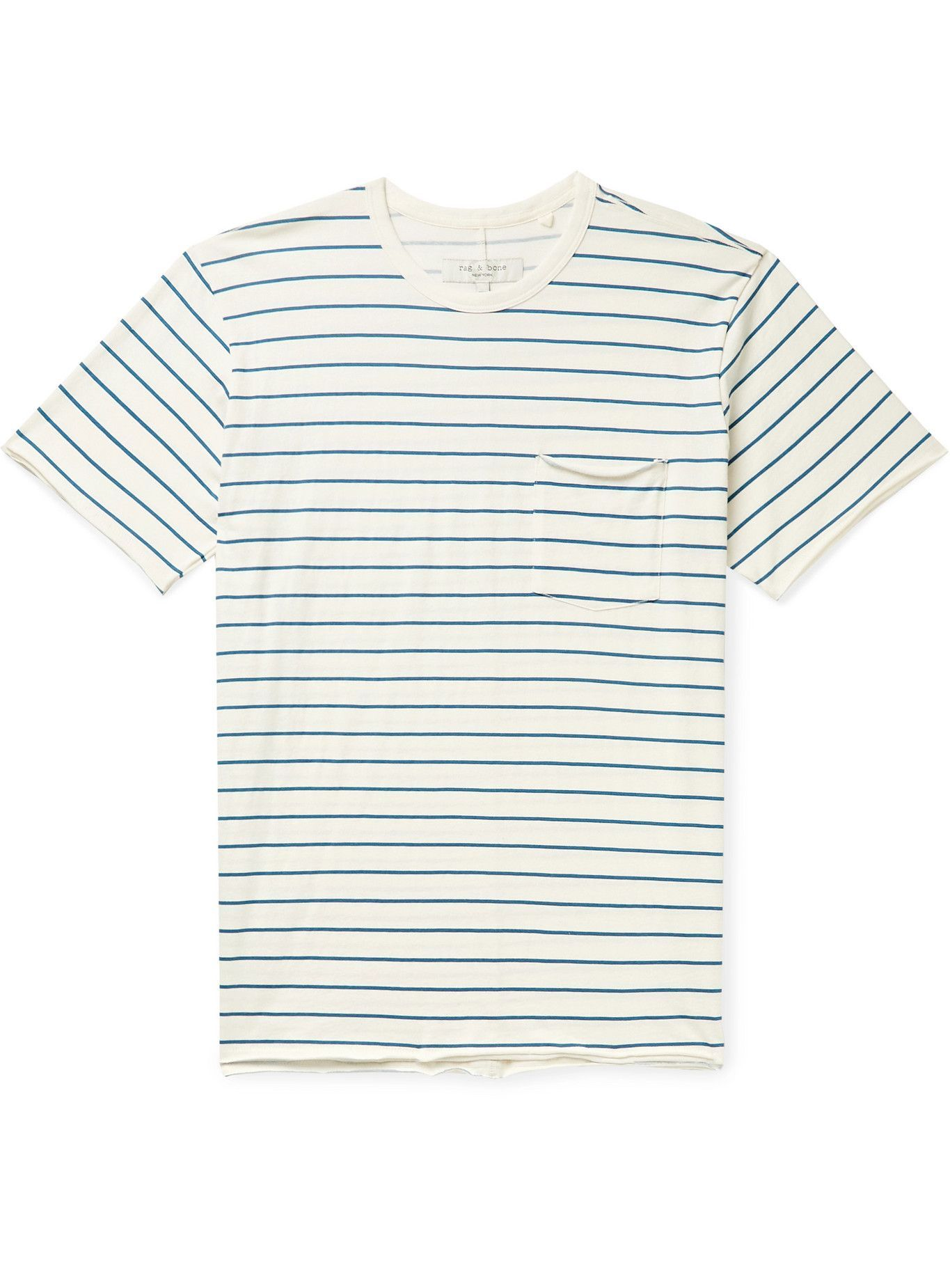 Photo: RAG & BONE - Miles Striped Organic Cotton-Jersey T-Shirt - Neutrals