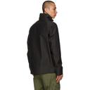 Stone Island Black Marina Jacquard Logo 3L Jacket