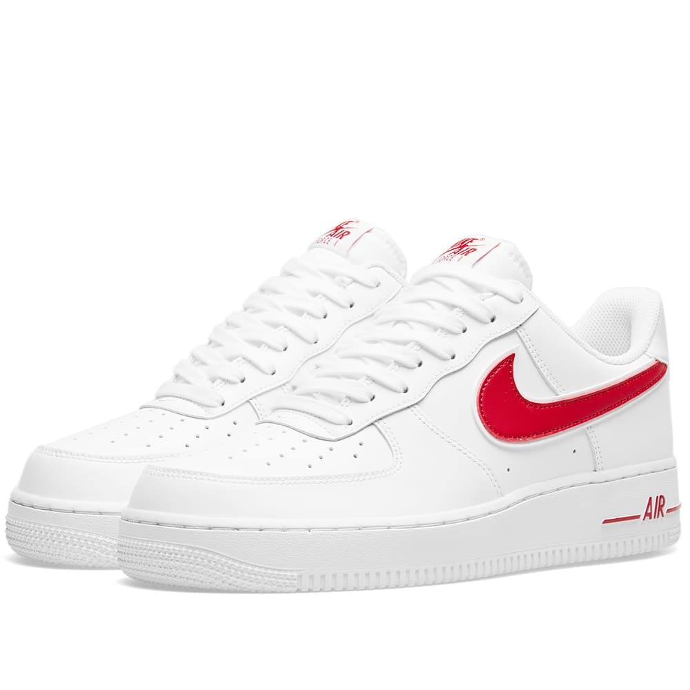 Photo: Nike Air Force 1 '07 White & Red