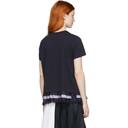 Sacai Navy Cotton Jersey T-Shirt