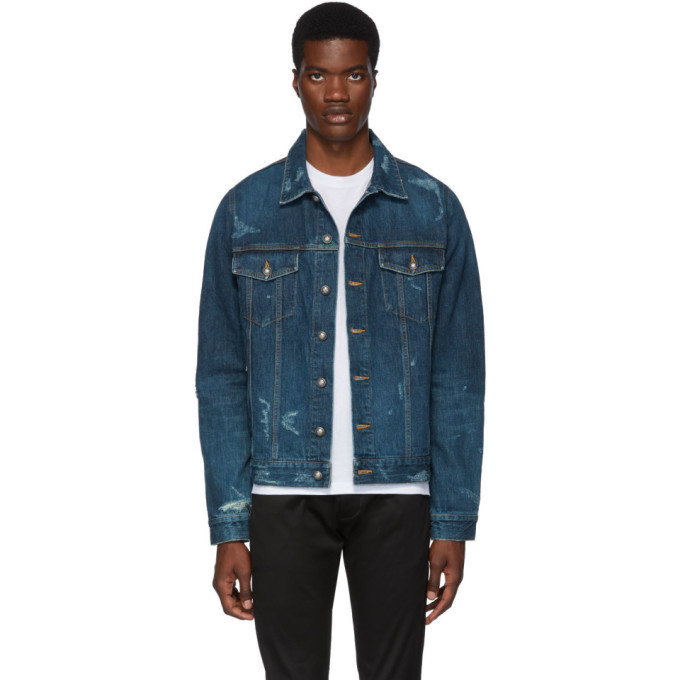 Photo: Balmain Blue Denim Logo Tape Jacket