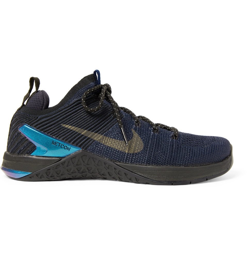 Photo: Nike Training - Metcon DSX 2 Flyknit and Rubber Sneakers - Midnight blue