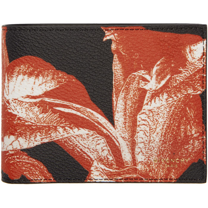 Photo: Givenchy Black and Red Iris Print Wallet