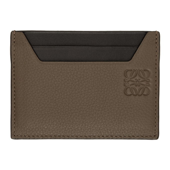 Photo: Loewe Taupe Plain Card Holder