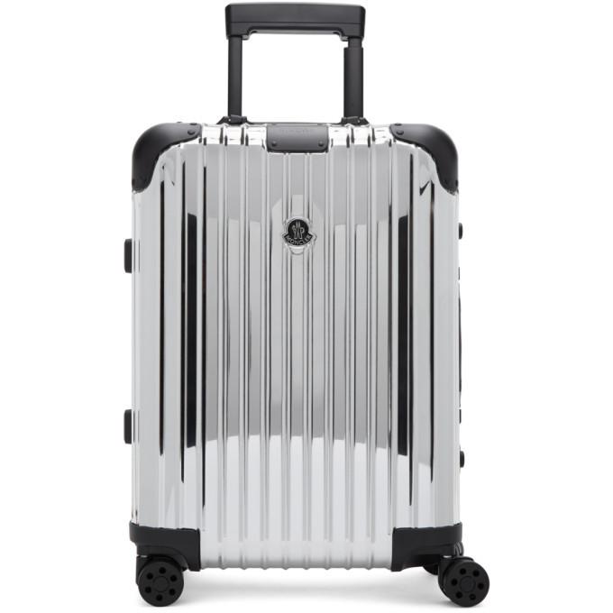 Photo: Moncler Genius Moncler Rimowa Reflection Silver Suitcase