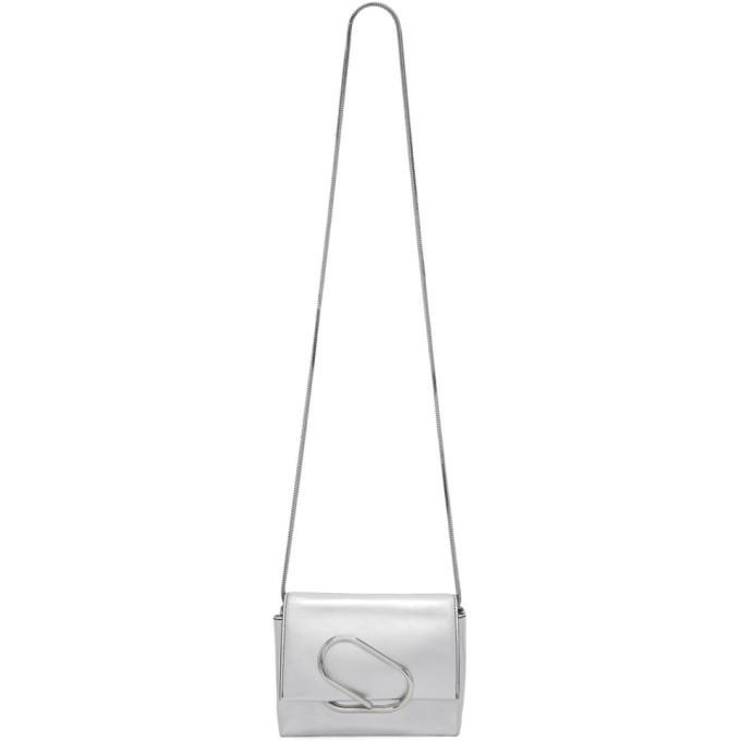 3.1 Phillip Lim Silver Micro Alix Crossbody Bag