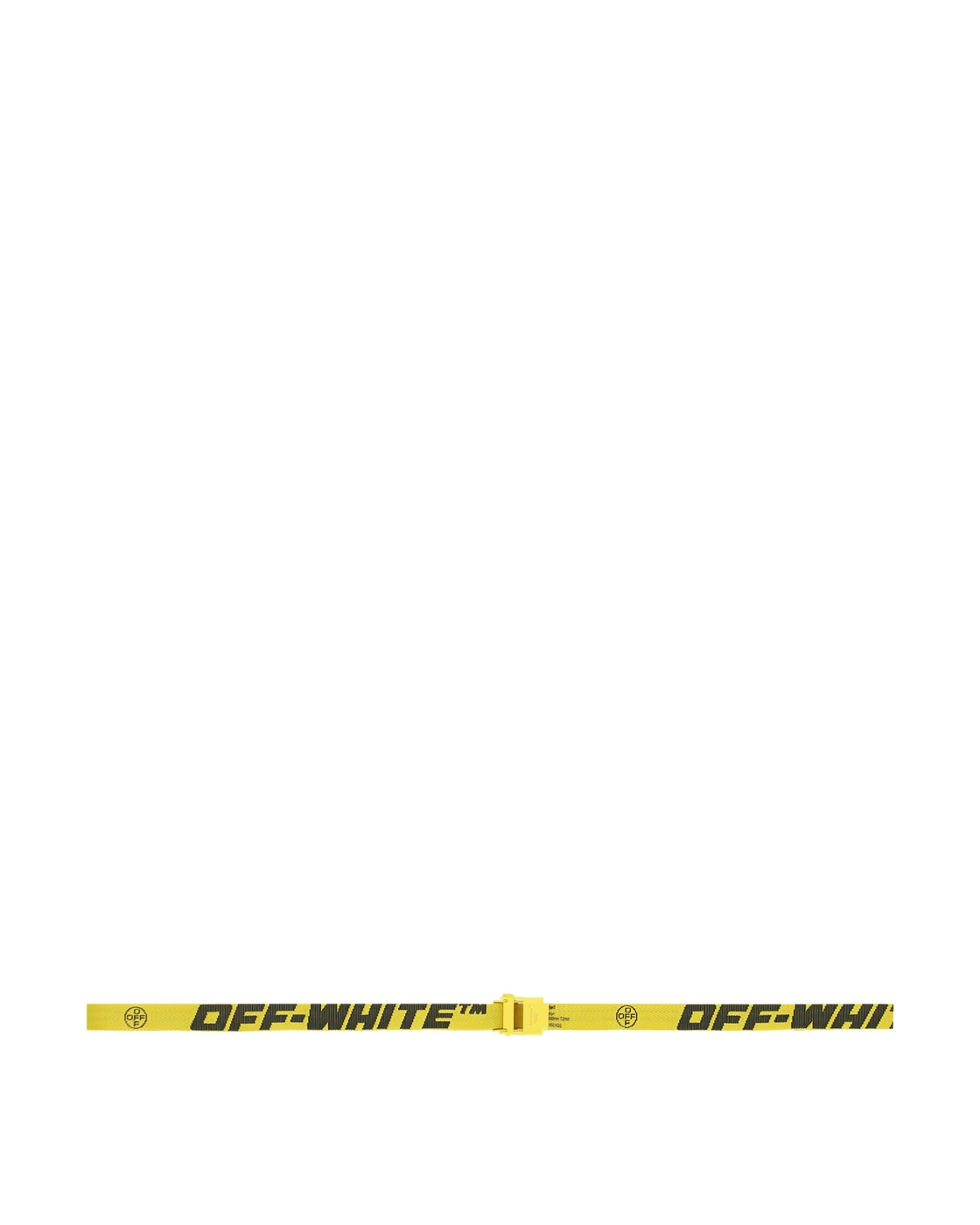 Photo: Off White Mini 2.0 Industrial Belt Yellow/Black