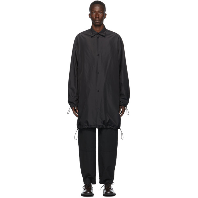 Photo: Bottega Veneta Black Technical Oversized Coat