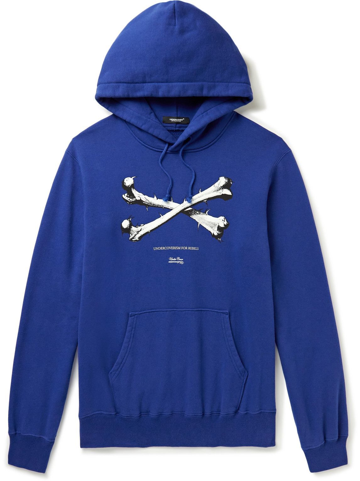 Photo: Undercover - Cotton-Jersey Hoodie - Blue