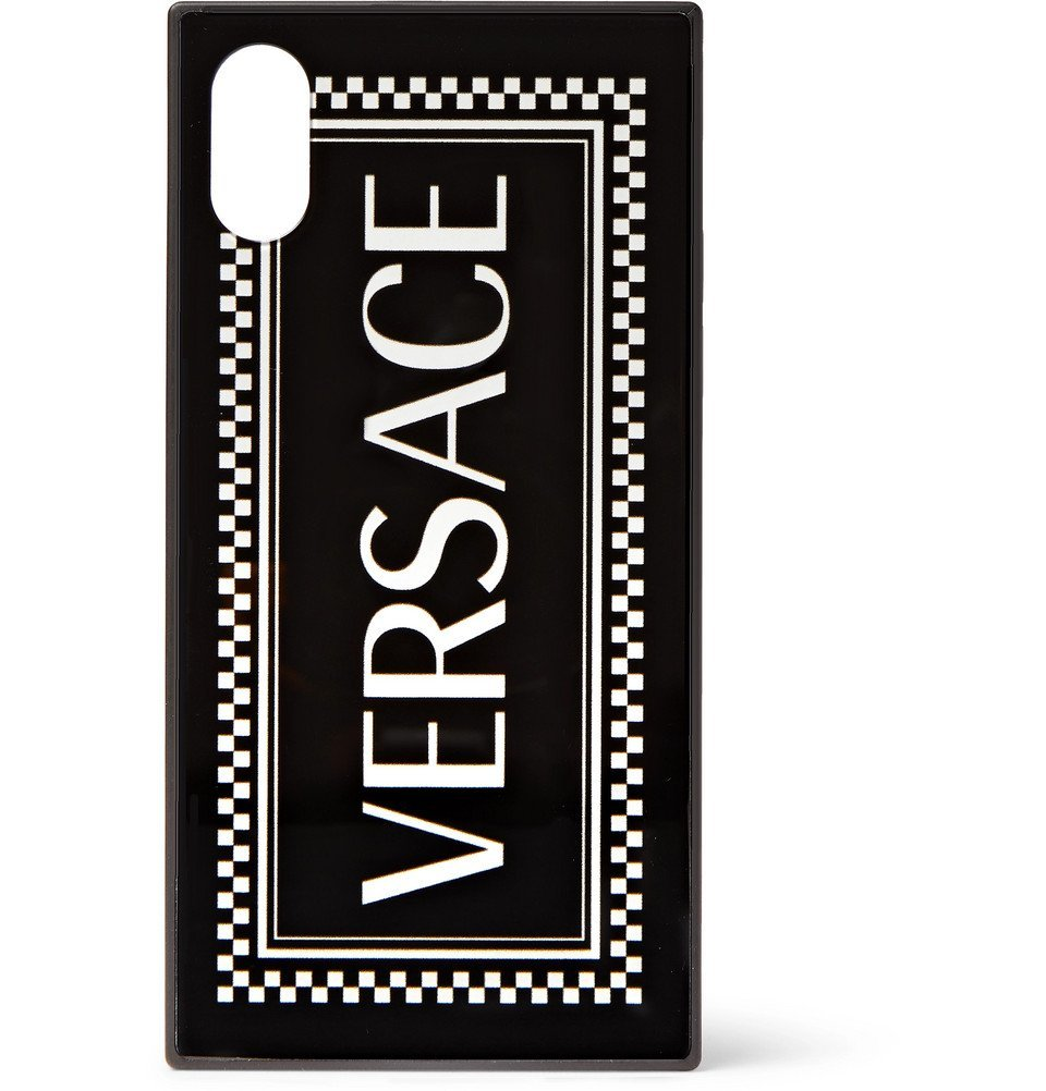 Photo: Versace - Logo-Print iPhone X Case - Black