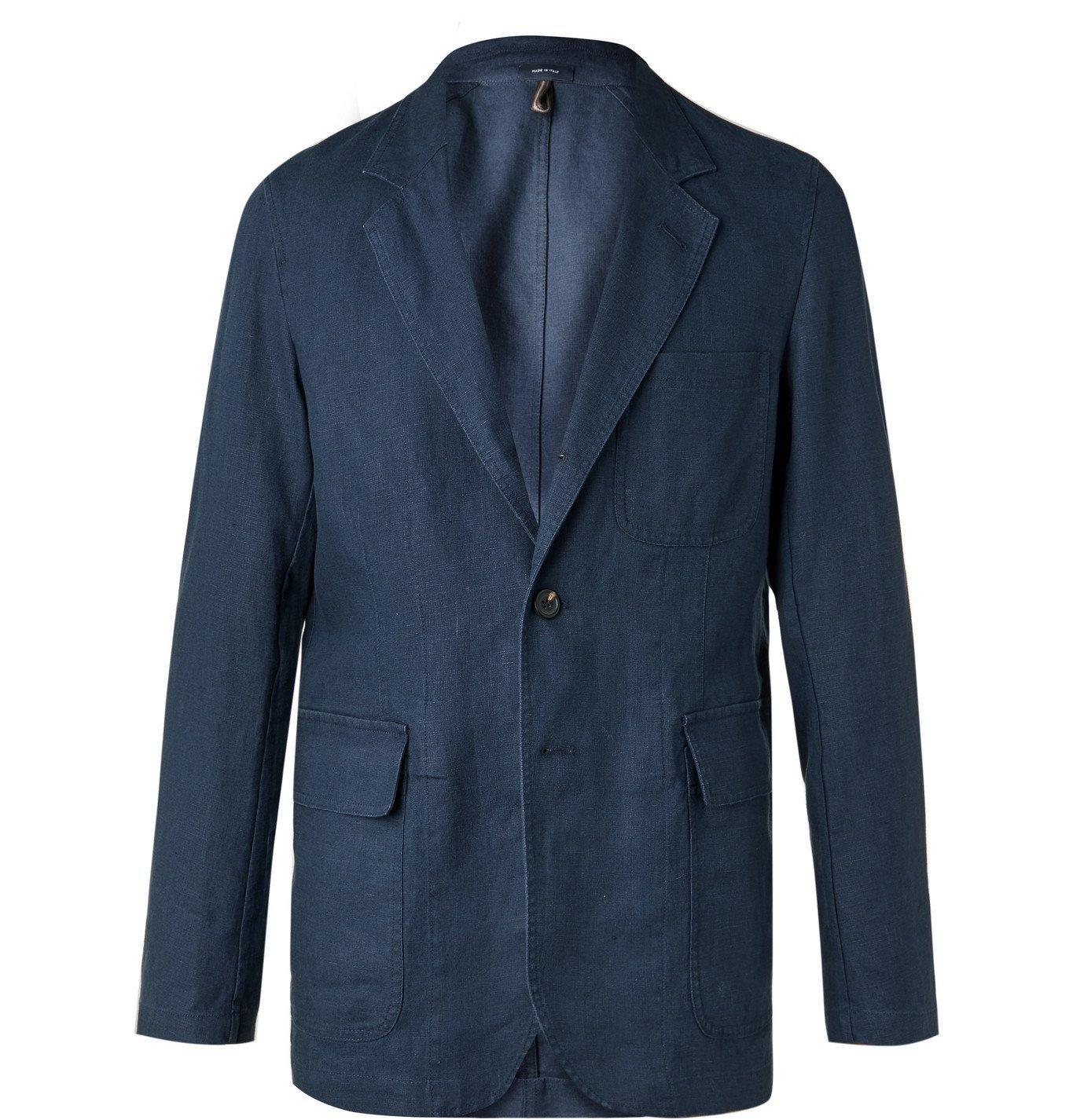 Photo: Drake's - Unstructured Cotton Suit Jacket - Blue