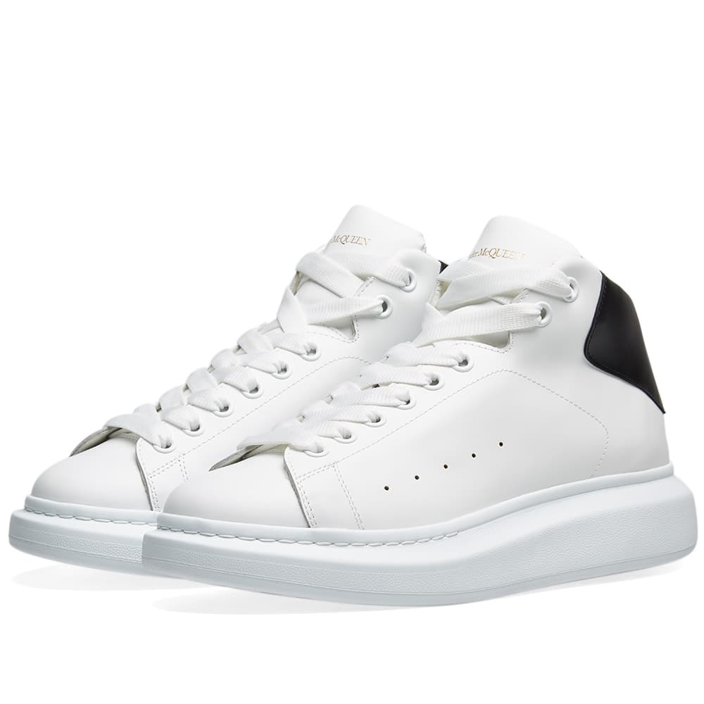 Photo: Alexander McQueen Hi Top Wedge Sole Sneaker White & Black