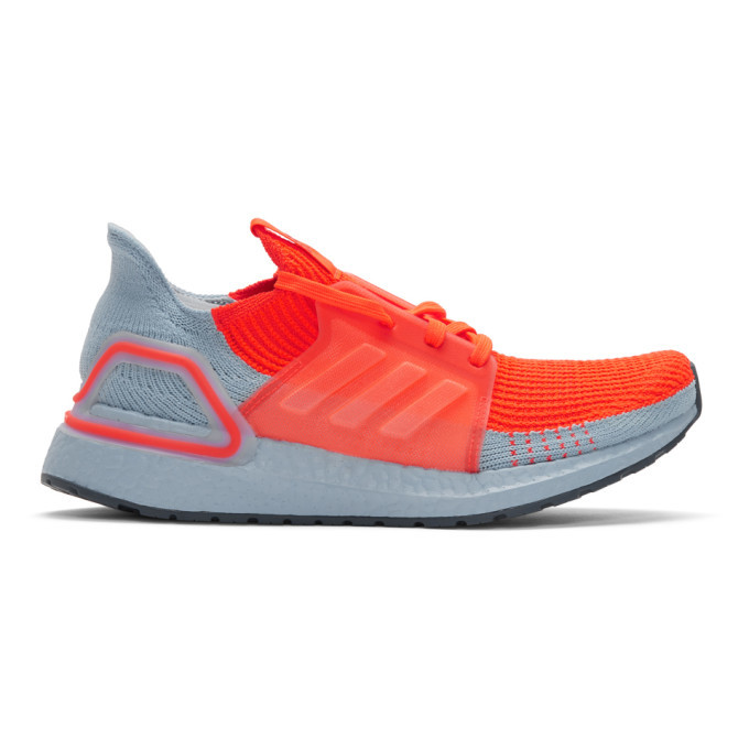Photo: adidas Originals Orange and Blue UltraBoost 19 Sneakers