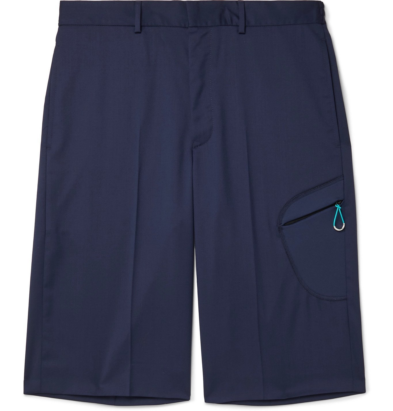 Photo: Givenchy - Wide-Leg Super 110s Virgin Wool Shorts - Blue