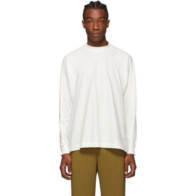 Photo: Homme Plisse Issey Miyake White Release T-1 Long Sleeve T-Shirt