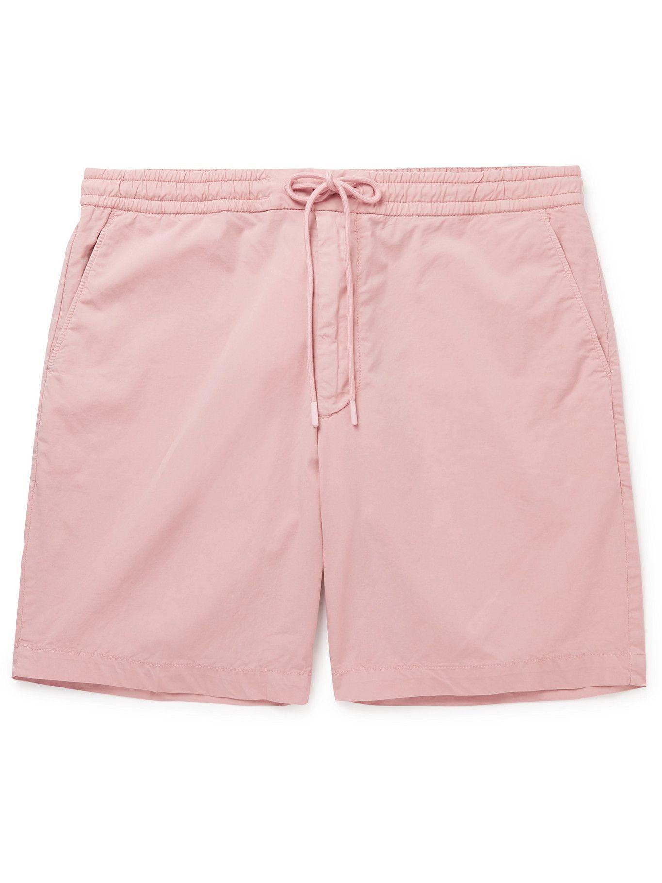 HUGO BOSS - Kenso Wide-Leg Stretch-Cotton Poplin Drawstring Shorts - Pink