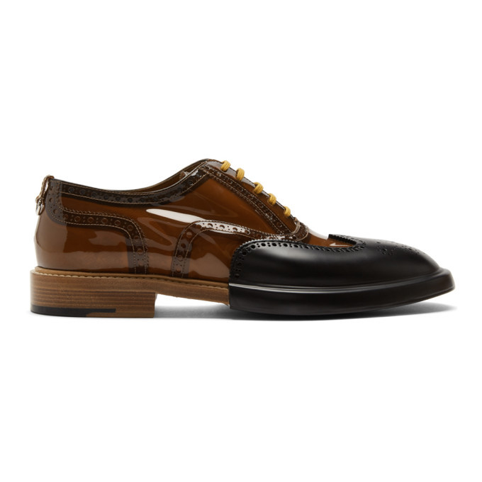 Photo: Burberry Black and Brown Transparent Len Brogues