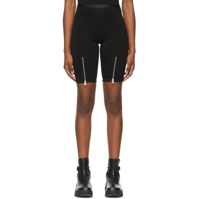 Photo: 1017 ALYX 9SM Black Zippered Biker Shorts