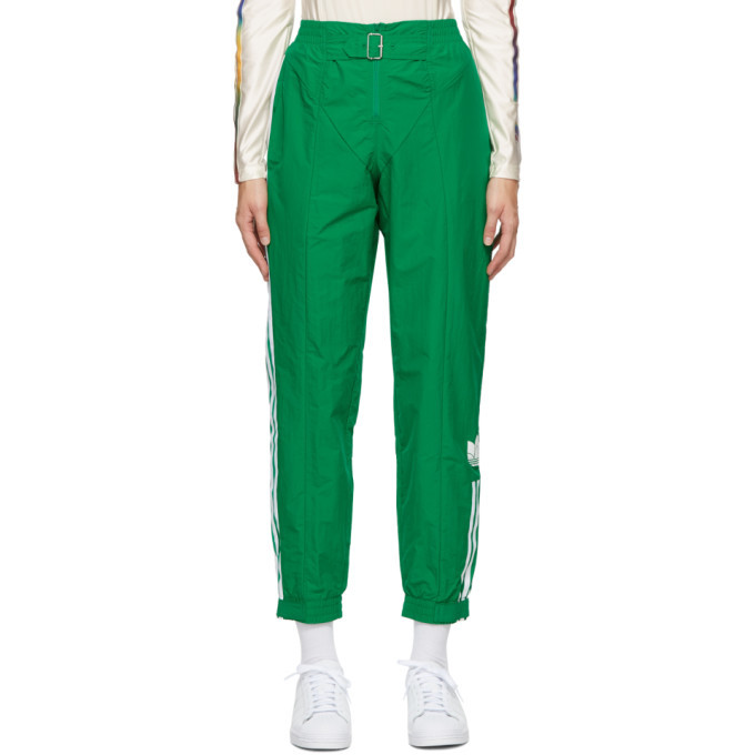 Photo: adidas Originals Green Paolina Russo Edition Striped Lounge Pants