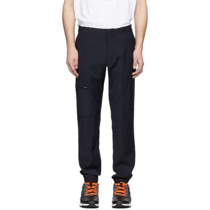 Photo: PS by Paul Smith Navy Wool Cargo Pants