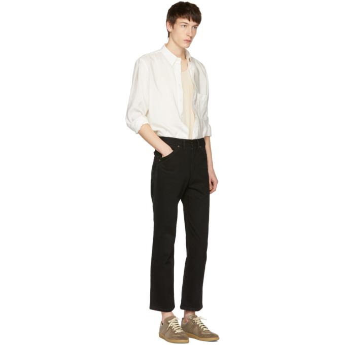 Lemaire Black Five-Pocket Straight-Leg Jeans