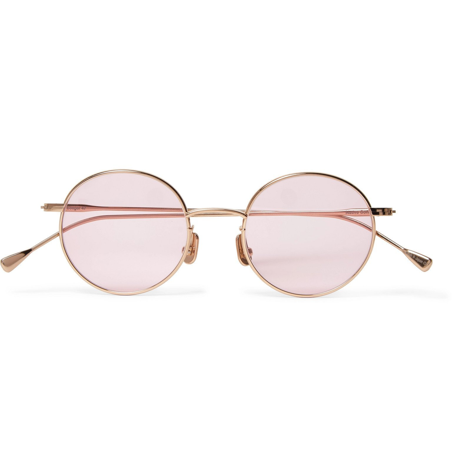 Photo: Native Sons - Seeger 47 Round-Frame Gold-Tone Sunglasses - Gold