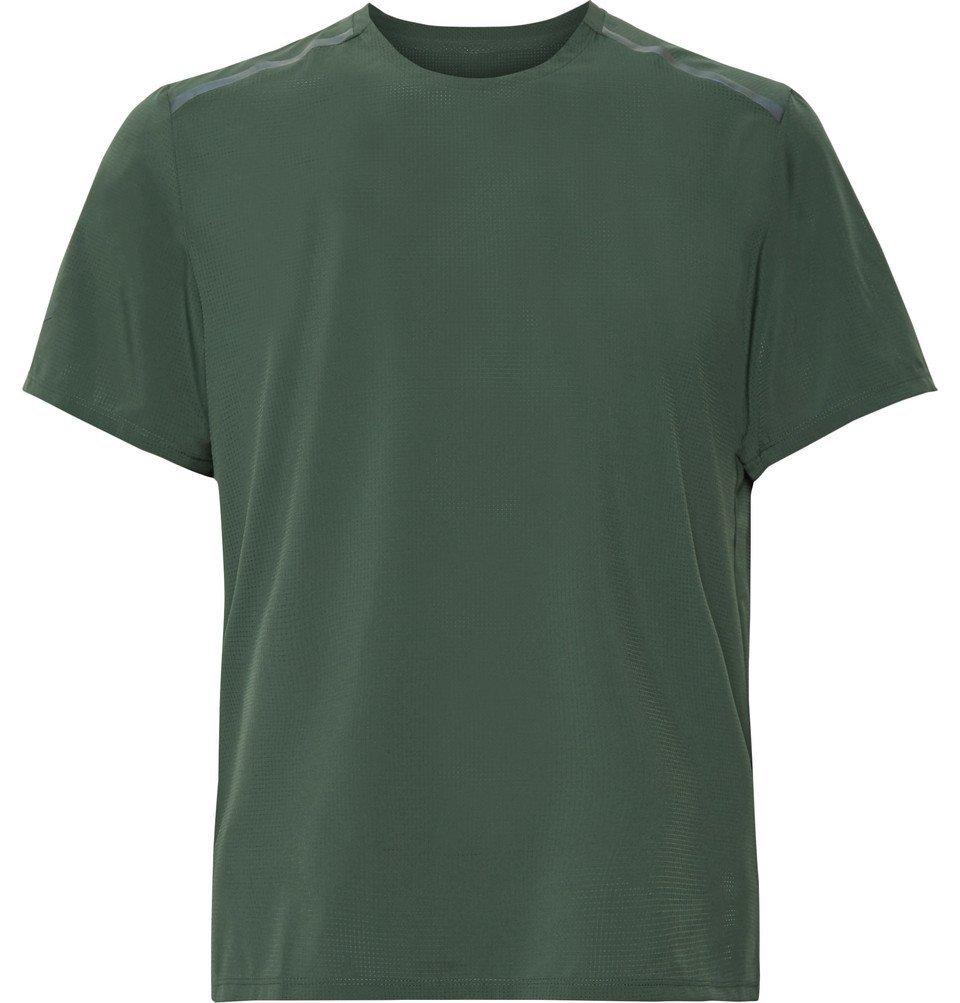 Nike Running - Tech Pack Stretch-Mesh Running T-Shirt - Dark green