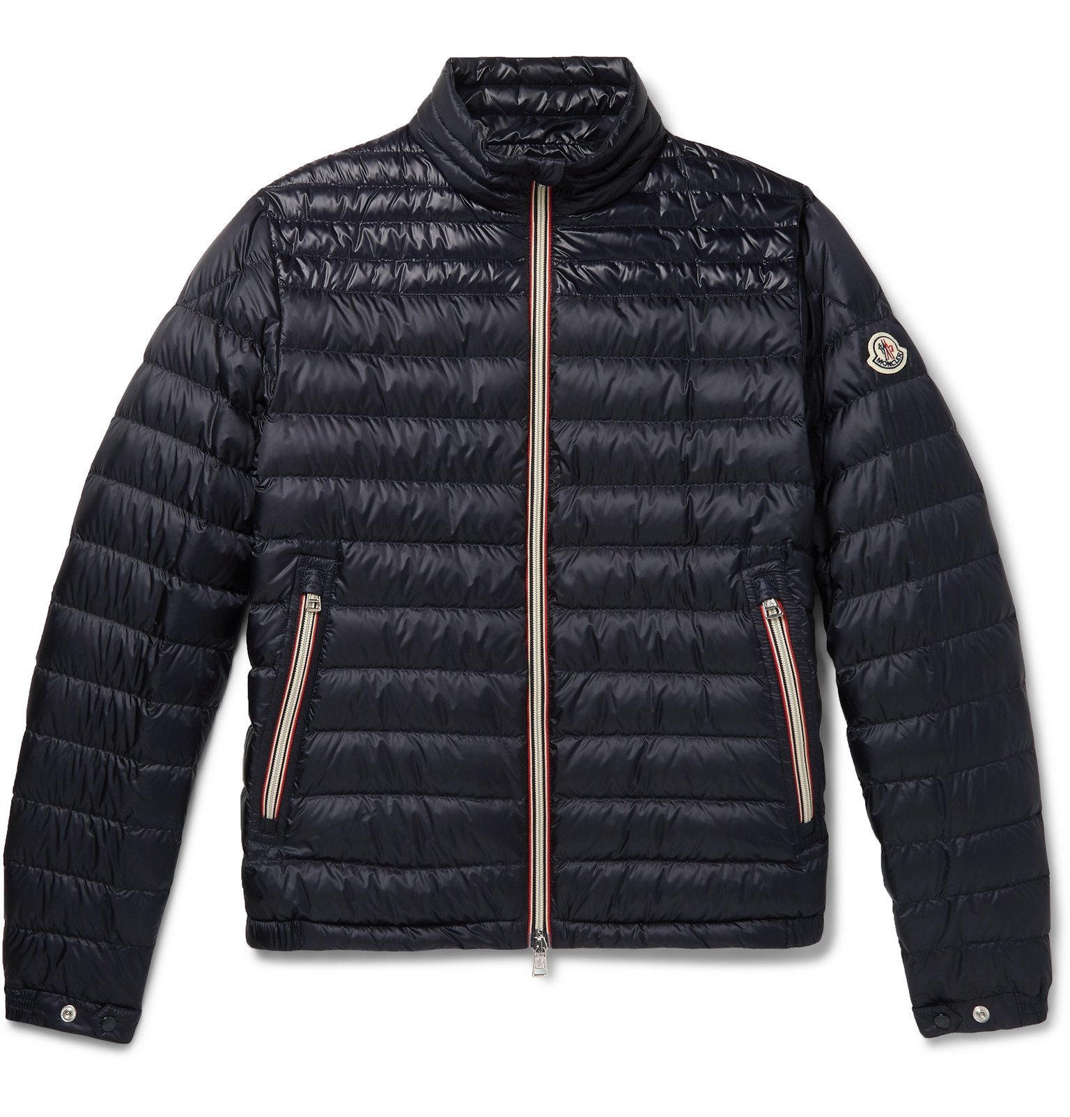 Photo: Moncler - Daniel Webbing-Trimmed Quilted Shell Down Jacket - Blue