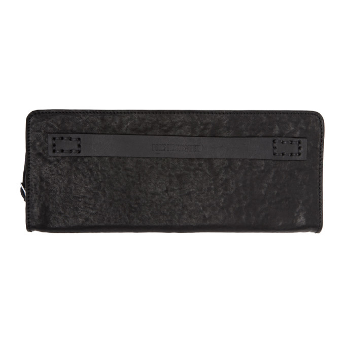 Photo: Boris Bidjan Saberi Black Leather Zip-Around Wallet