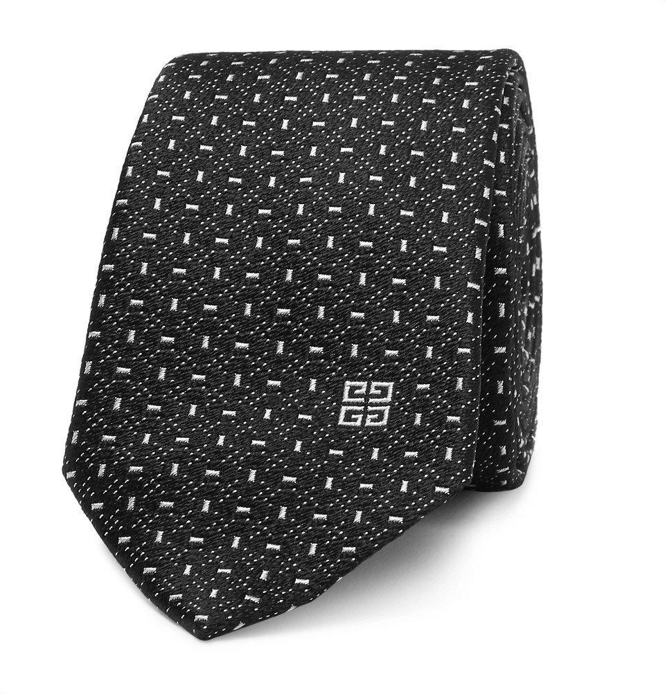 Photo: Givenchy - 6.5cm Silk-Jacquard Tie - Black