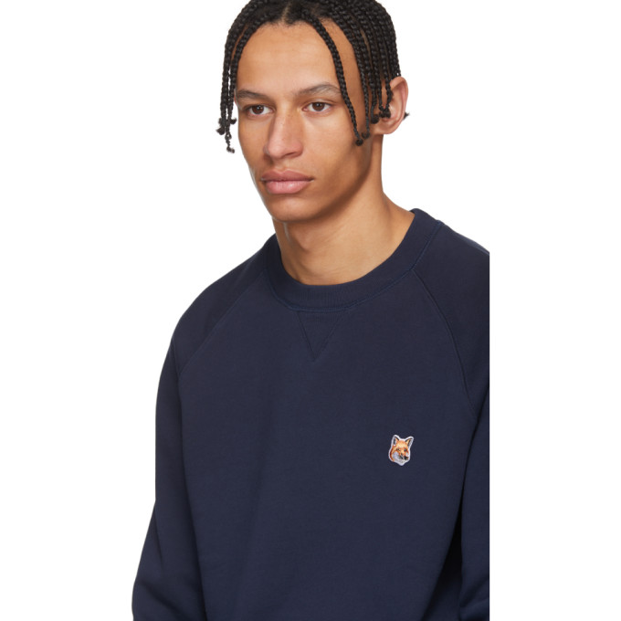 Maison Kitsune Navy Fox Head Sweatshirt