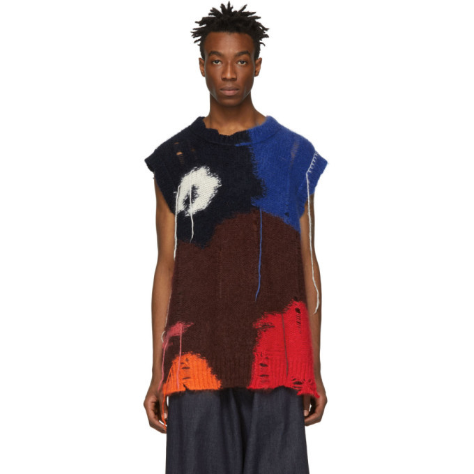 Photo: Alexander McQueen Multicolor Mohair Intarsia Sweater