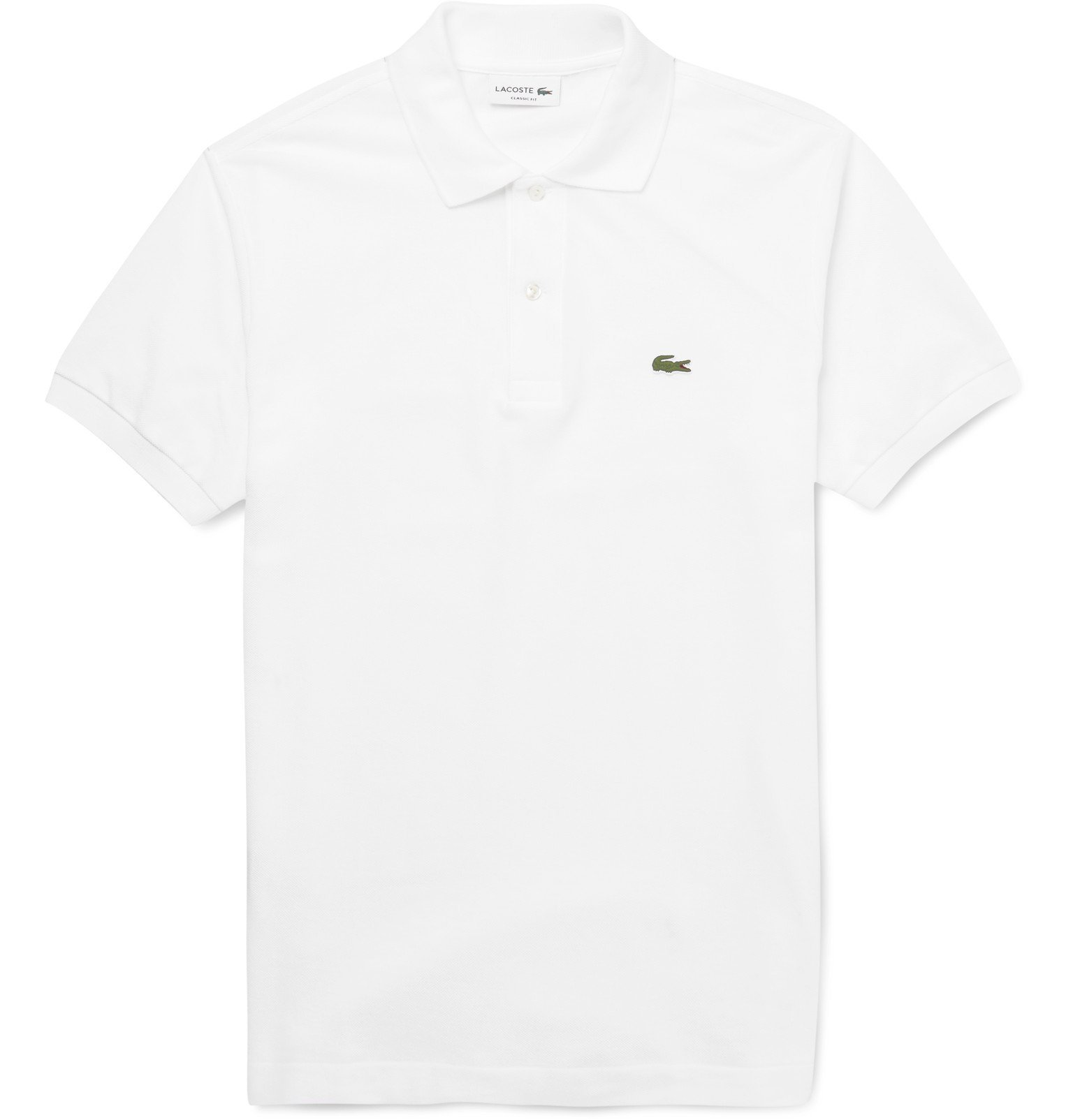 Photo: Lacoste - Cotton-Piqué Polo Shirt - White